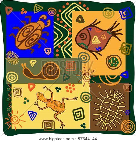 African Motifs With Animals