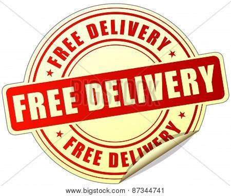 Free Delivery Label