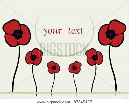 Spring Or Summer Backgrounds With Poppy