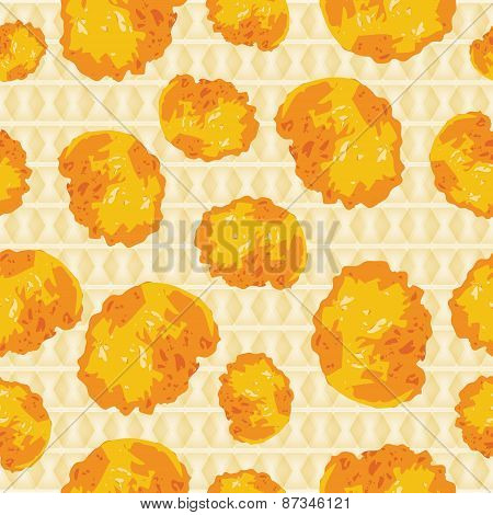 Cornflakes background seamless scattered