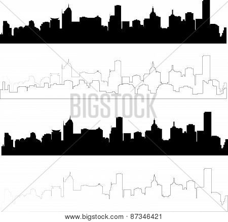 silhouette of city 7