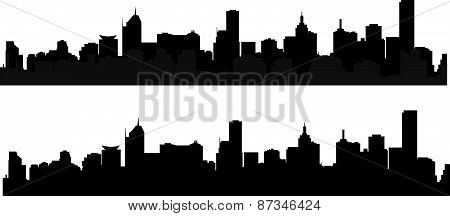 silhouette of city 6