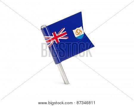 Flag Pin Of Anguilla