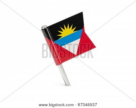 Flag Pin Of Antigua And Barbuda