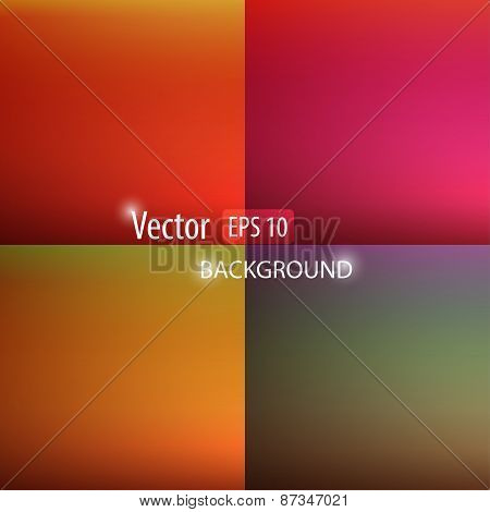 Smooth Abstract Colorful Backgrounds Set