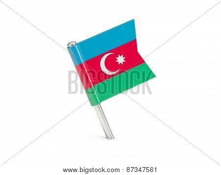 Flag Pin Of Azerbaijan
