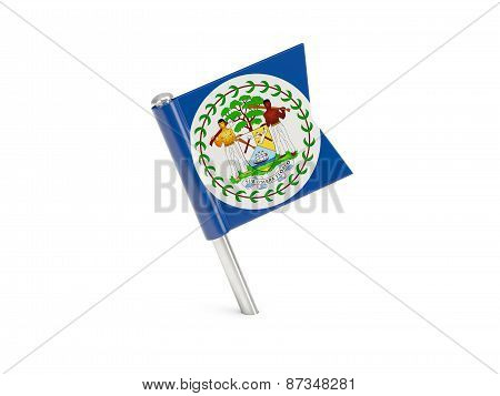 Flag Pin Of Belize