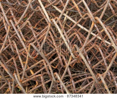 Wire Fence Rust Texture Background