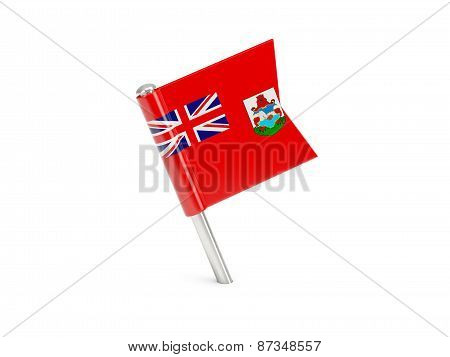 Flag Pin Of Bermuda