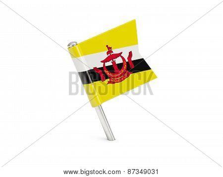 Flag Pin Of Brunei