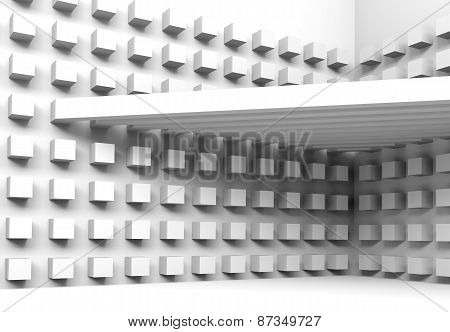 Architecture Background With Beams And Cubes Pattern
