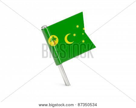 Flag Pin Of Cocos Islands