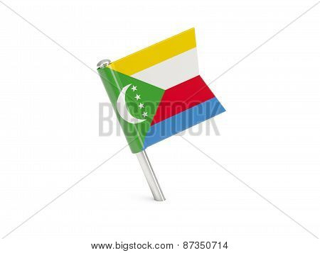 Flag Pin Of Comoros