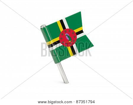 Flag Pin Of Dominica