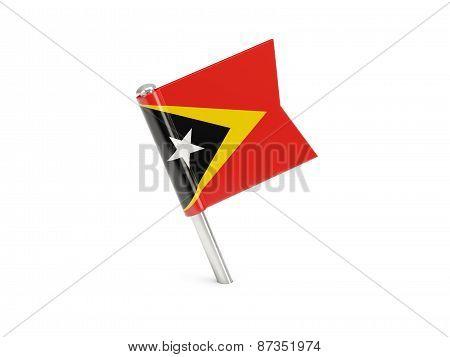 Flag Pin Of East Timor