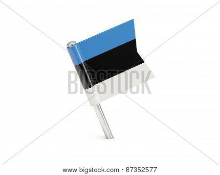 Flag Pin Of Estonia