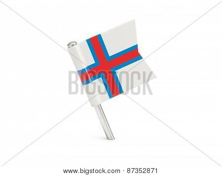 Flag Pin Of Faroe Islands