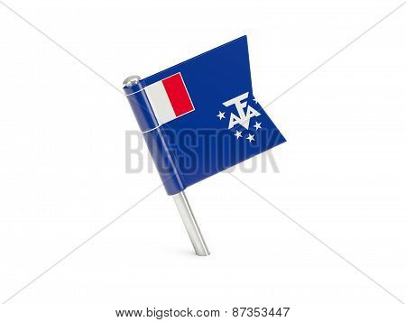 Flag Pin Of French Southern Territories