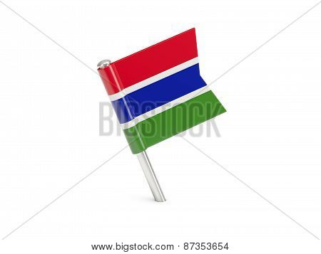 Flag Pin Of Gambia