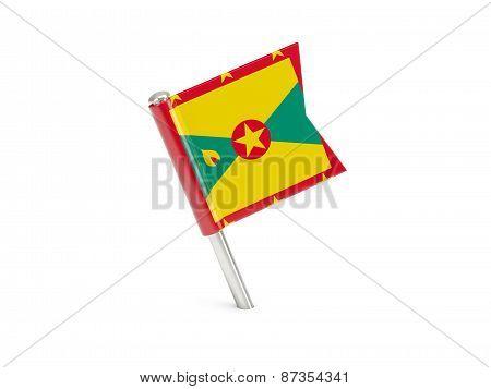 Flag Pin Of Grenada