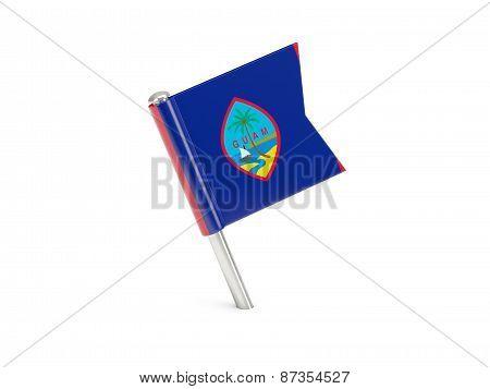 Flag Pin Of Guam