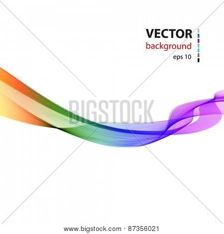 Abstract smoky waves background, easy editable