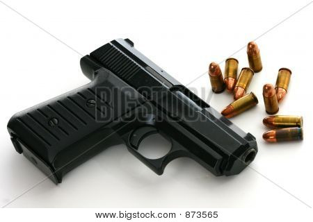 Handgun With Ammo