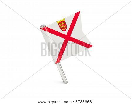 Flag Pin Of Jersey