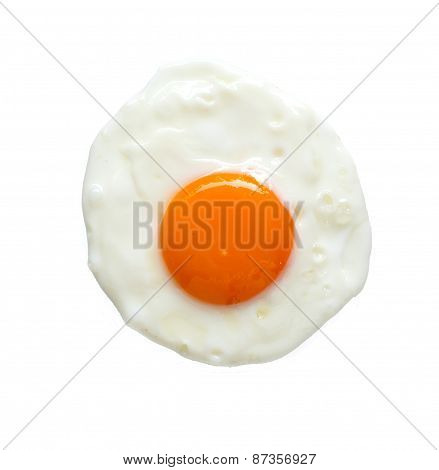 Top View Of Fried Egg