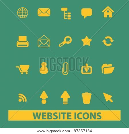 website icons, signs, illustrations concept design set, vector