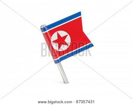 Flag Pin Of Korea North