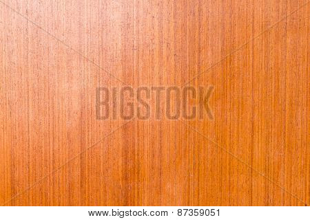 Closeup Of The Brown Plywood