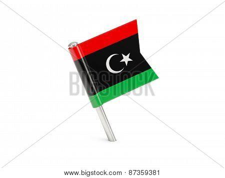 Flag Pin Of Libya