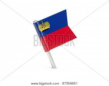 Flag Pin Of Liechtenstein