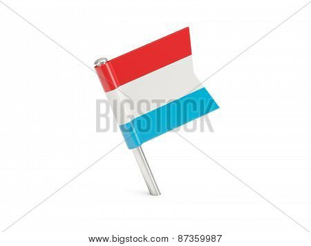 Flag Pin Of Luxembourg