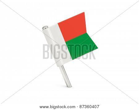 Flag Pin Of Madagascar