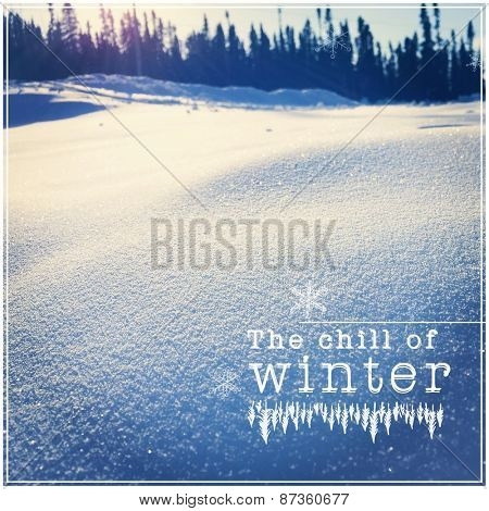 Inspirational Typographic Quote - The Chill of Winter