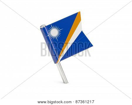 Flag Pin Of Marshall Islands