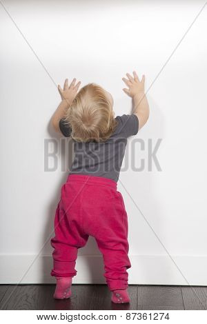 Baby White Wall Copy Space