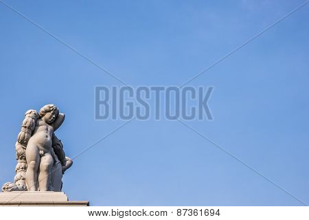 Angel Statue on Fence of Throne Hall