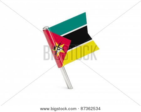 Flag Pin Of Mozambique