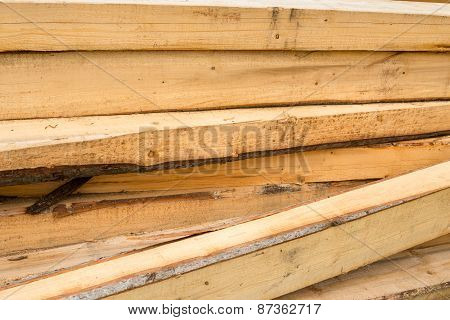 Pile Of Wooden Beams