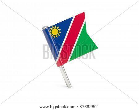 Flag Pin Of Namibia