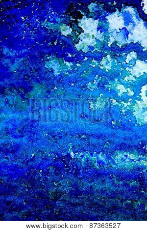 Blue with Green Watercolor Background 10