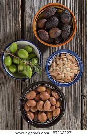 Four Stages Of Argan Fruits