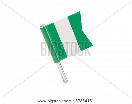 Flag Pin Of Nigeria