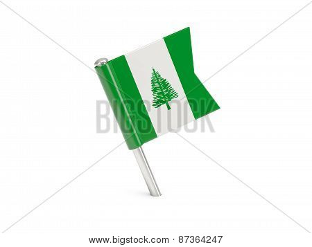 Flag Pin Of Norfolk Island