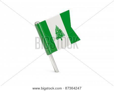 Flag Pin Of Norfolk Island