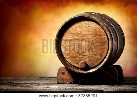 Cask on a stand