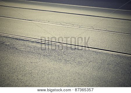 Textured Asphalt Covering With Rails